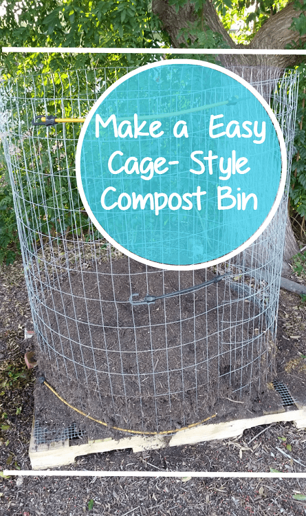 stating a compost pile - bin