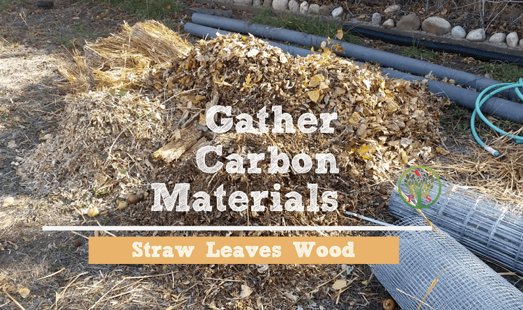 how to start a compost pile - brown materials